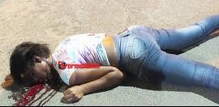 A mulher que não foi identiificadamorreu com 03 tiros