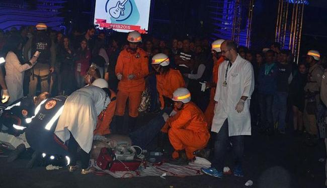 A equipe se Salva-vidas chegou e não conseguiu salvar o homem