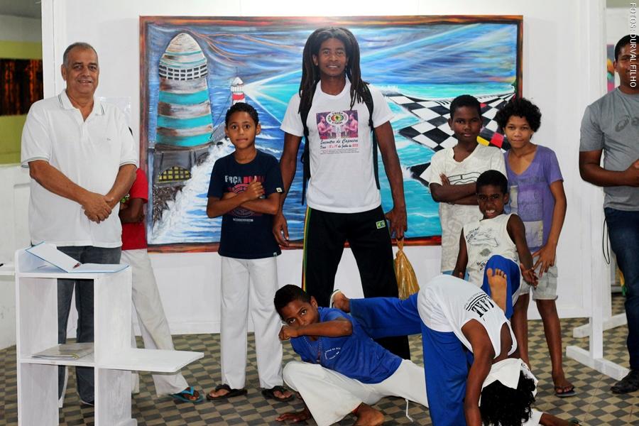 Durante o evento houve apresentação de capoeira