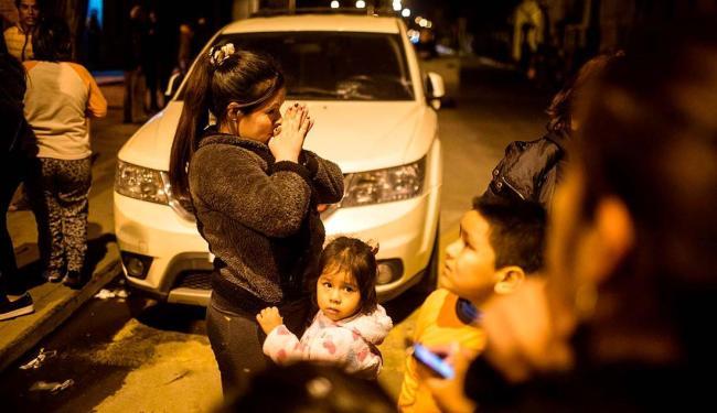 Por conta do terremoto, mais de um milhão de pessoas deixaram suas casas no Chile