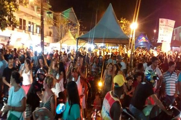 O publico na maioria formado por motociclista (Foto: Carlos Gama)