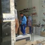 UBAITABA: LOJA AL CALÇADOS TEVE VITRINE ARROMBADA COM PEDRADA
