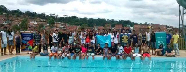 Membros dos Interact Clubs que integram o distrito 4550D se reuniram  em Ubaitaba