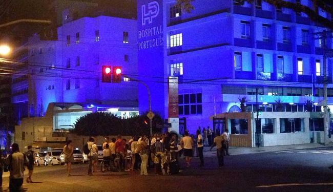 Acidente aconteceu em frente ao hospital Português