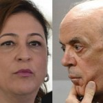 APÓS SER CHAMADA DE 'NAMORADEIRA', MINISTRA JOGA VINHO NA  CARA DE JOSÉ SERRA