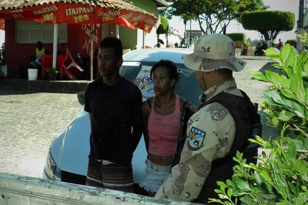 O casal preso em fllagrante foi apresentado na Delegacia