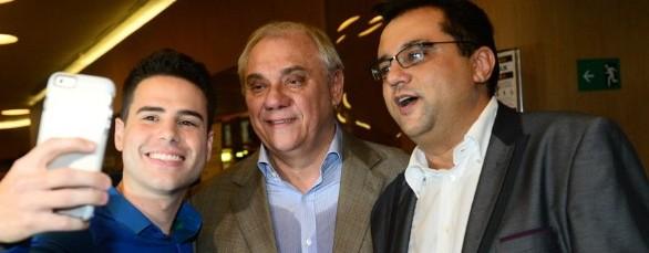 ELENCO DA RECORD Geraldo Luis, Luiz Bacci e Marcelo Rezende