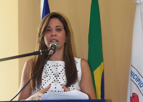 A presidente da União dos Municípios da Bahia (UPB), prefeita Maria Quitéria