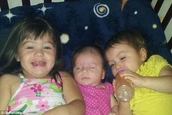 Sophia, Xenia e Yazmine foram degoladas pela própria mãe; motivo seria vingança (Foto: Reprodução/GoFundMe)