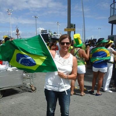 Elied mostrou  espírito de brasilidade durante à manisfestação