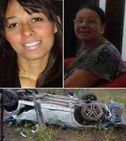 Morreram  no local a senhora Eunice Pereira da Silva e sua filha Raqueline Pereira Santos,