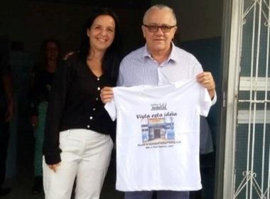 O Secretário Estadual Josias Gomes prometeu a prefeita o seu empenho na Campanha