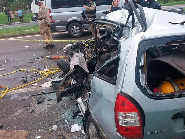 Acidente aconteceu nesta segunda-feira (30) (Foto: Rafael Teles / G1)