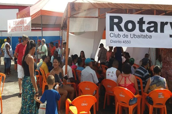 O stand foi na praça cultural onde dezenas da pessoas foram atendidas