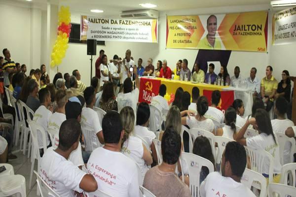 O povo lotou o auditório da CDL e aplaudio , Jaílton Araujo