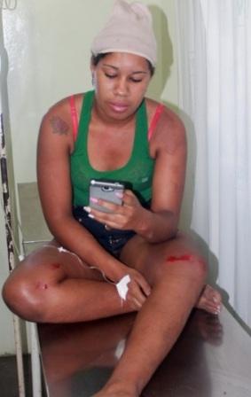 Luana Conceição dos Anjos perdeu o controle do veículo e colidiu com com a parede de pedra