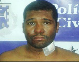 Itamar Dourado, de 34 anos, suspeito de assassinar o próprio pai a facadas.
