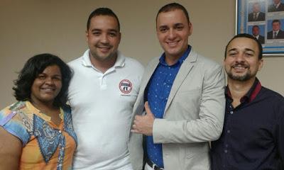 Conselheira Tutelar, Diretor Regional da ACBFFB, Delegado Dr. Adelino Loyola  e Presidente da BAMU Júnior Ferrari