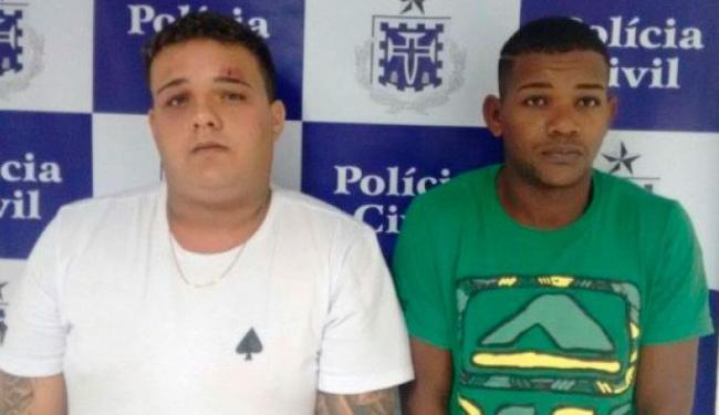 Davi Rios de Oliveira e Joanderson Menezes Lima foram presos durante um assalto