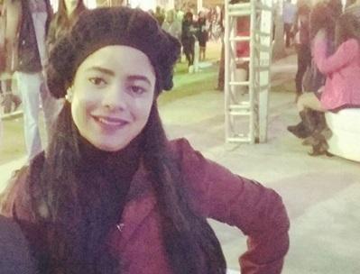 Rebecca em traje de frio