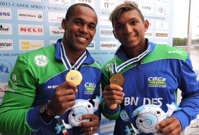Erlon Souza e Isaquias Queiroz conquistam o ouro no Mundial Foto: Reprodução/Facebook