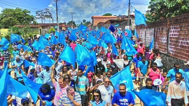 Uma multidão tem acompanhado os comícios de Gracinha Viana