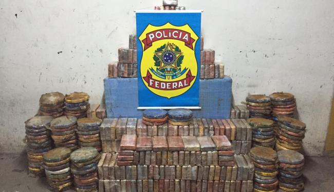 Cerca de 800 quilos de cocaína foram aprendidos