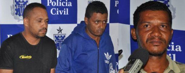 Edimar da Silva Brito, Fábio de Jesus Santos e Adriano Silva.