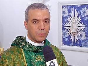 Padre João Paulo Nolli, de 35 anos, foi morto por estrangulamento em Mato Grosso (Foto: Reprodução/TVCA)