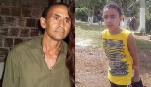 Reinaldo França de Menezes, 48 anos e o sobrinho dele, Gabriel de Menezes,
