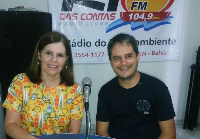 O presidente Dr. Márcio e a secretária Elied Soares, durante entrevista (Foto: Luíse Beatariz)