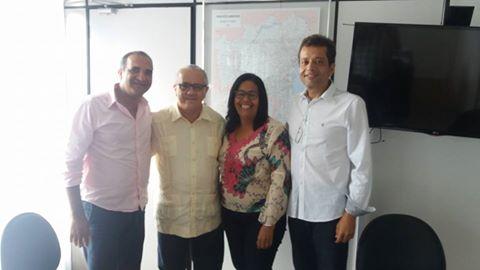 O secretário Josias Gomes recebeu em seu gabinete, Suka e sua comitiva