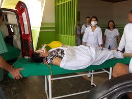 Adriana chegou a ser levada para o hospital de Aurelino Leal, onde chegou sem  vida