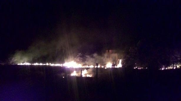 O incêndio ganhou proporções alarmantes