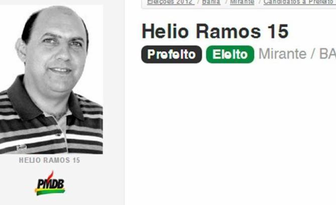 Hélio Ramos está afastado do cargo desde outubro de 2015