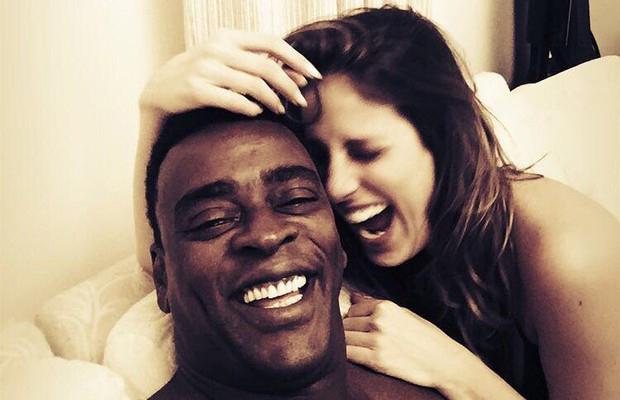 Karina Maluf e Seu Jorge estão juntos há três meses (Foto: Reprodução/Instagram)