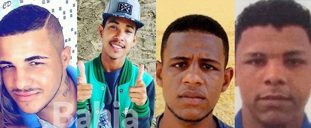 Foram mortos, Igor Borges de Araújo, 19, Geirlan de Jesus Souza, 20 anos, o 'Gui', Oséias de Souza Costa, 19, o 'Tura' e Antônio Valdevino Santos Neto, 22 anos.