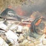 CAMINHÃO EXPLODE NA BR-101 PROVOCANDO A MORTE DE MOTORISTA