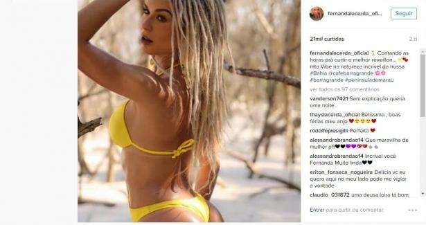"""Fernanda Lacerda, mais conhecida como a Mendigata do programa """"Pânico"""" vai curtir a virada do ano  em Barra Grande"""
