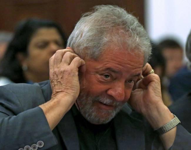 O ex-presidente Luiz Inácio Lula da Silva, réu em três ações penais