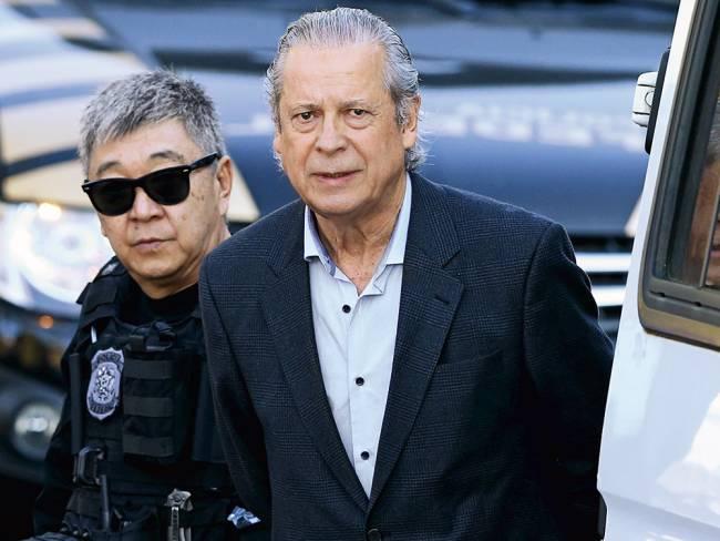 O ex-ministro da Casa Civil José Dirceu, preso na Operação Lava Jato (Rodolfo Buhrer/Reuters/Reuters)