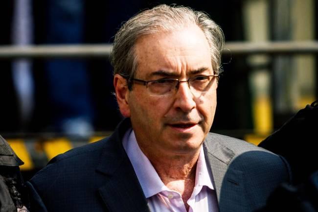 O ex presidente da câmara dos deputados Eduardo Cunha ( PMDB ), após ser preso na Operação Lava Jato (Vagner Rosário/VEJA.com