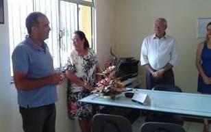 O vice-prefeito dá as boas vindas ao novo emprendimento