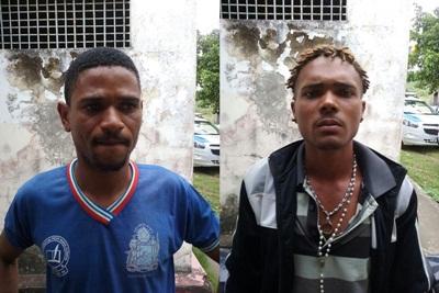Lázaro Caique Silva de Oliveira, 20 anos, e Ednilton dos Santos, 29 anos, ambos moradores de Aurelino Lea