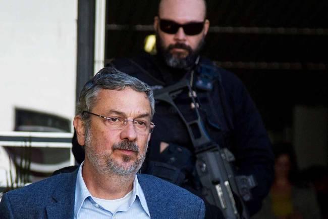 """O ex-ministro Antonio Palocci, preso durante a 35ª fase da Operação Lava Jato, intitulada """"Omertà"""" (Vagner Rosário/VEJA.com)"""