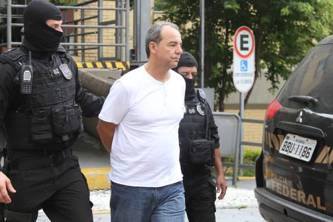 O ex-governador do Rio de Janeiro, Sergio Cabral, preso na operação Calicute (Vagner Rosário/VEJA.com)