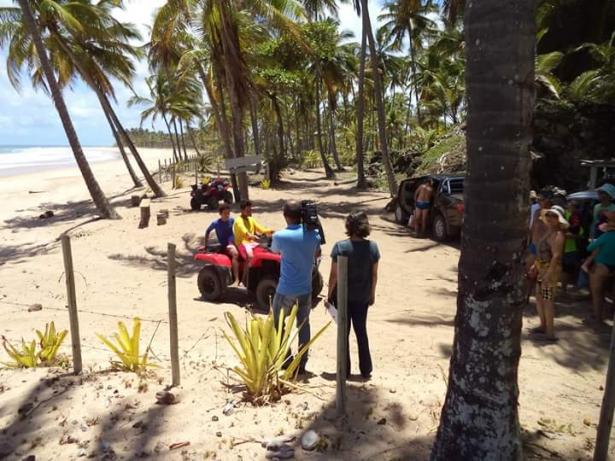 O constante uso de quadriciclos nas praias gera proptesto