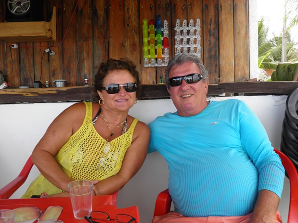 Cláudia e Roberto sempre de bem com a vida