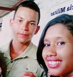 Carolaine Jesus Paiva da Siva teria matado o marido, Lucas de Jesus Conceição, com dois tiros