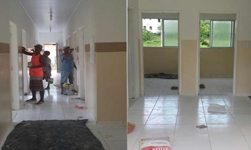 As obras estão em fase de acabamento